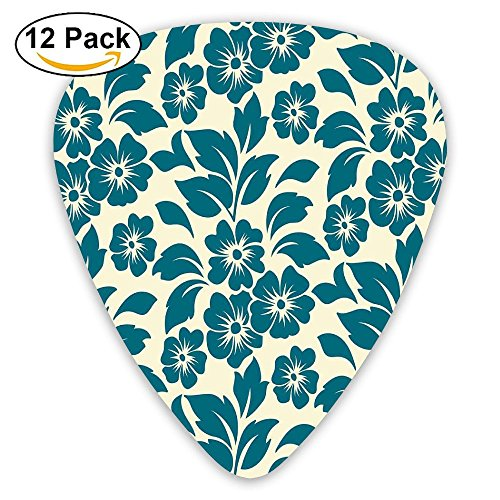 Newfood Ss Flower Petals Blossoms Shabby Chic Fragrance Florets Nature Spring Tropical Design Guitar Picks 12/Pack Set