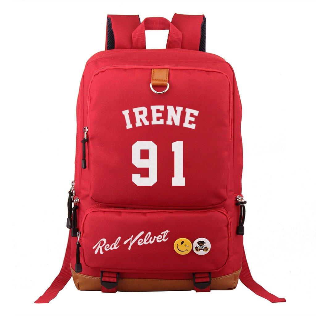 Fanstown kpop RED VELVET red color Backpack pencil case set canvas Messenger bag SEULGI