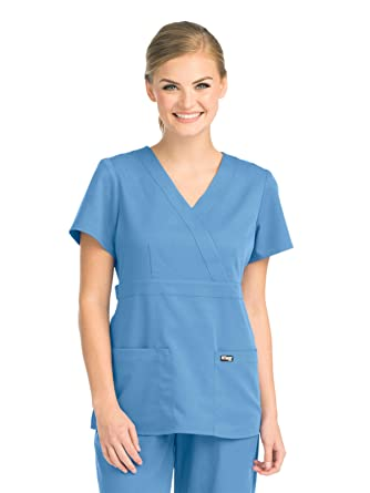 0f0f427a78b Image Unavailable. Image not available for. Color: Grey's Anatomy 4153  Women's Mock Wrap Top ...