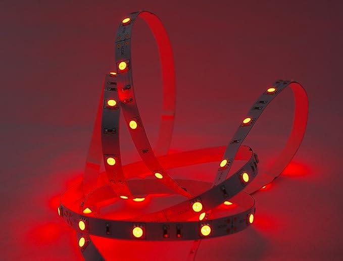 30 cm  LED Strip 18 LEDs  rot  12 V Wasserdicht   KFZ Beleuchtung