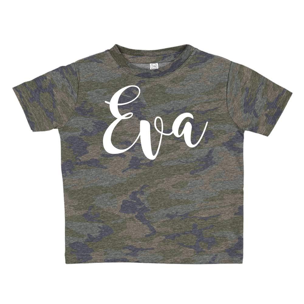 Mashed Clothing Eva Personalized Name Toddler//Kids Short Sleeve T-Shirt