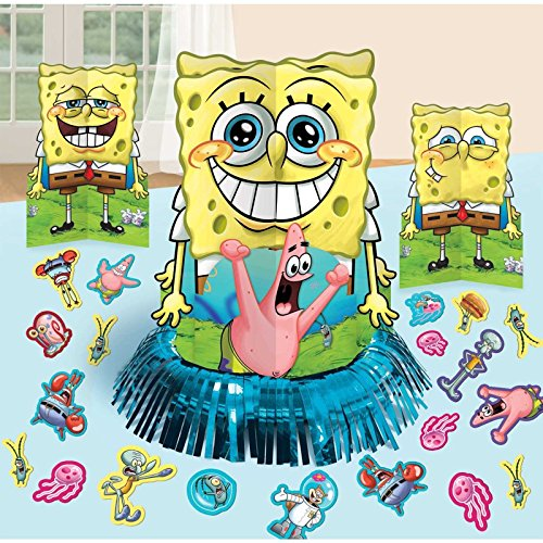 Nickelodeon Sponge Bob Birthday Party Favor Table Centerpiece Decoration Kit ()