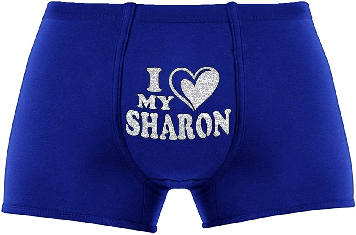 Cool Boxer briefs | I love my Sharon | Innovative gift. Birthday present. Novelty item. A Christmas gift Kornev GmbH