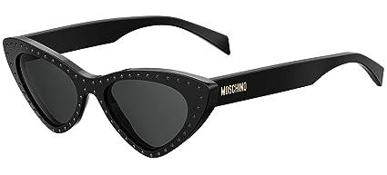 Gafas de Sol Moschino MOS006/S SHINY BLACK/GREY mujer ...