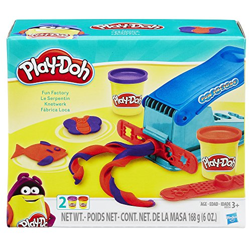 Play-Doh Basic Fun Factory Shape Making Machine with 2 Non-Toxic Play-Doh Colors -