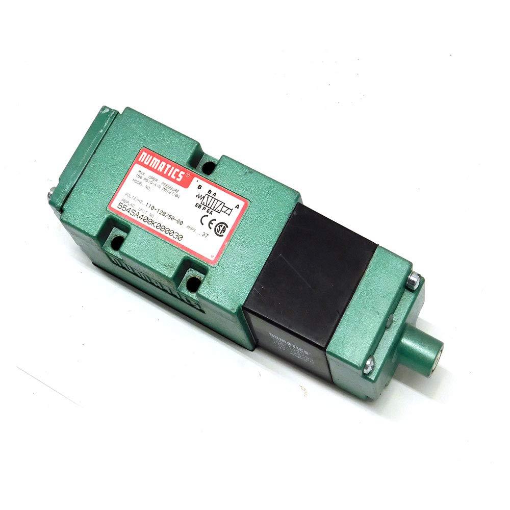 50 Hz ASCO Numatics 554SA400K000030 Mark 55 Directional Control Valve 1//2 60 Hz Single Direct Solenoid 5//2 110 VAC 4-Way Spring Return NPTF Pressure Ports 2 Position 120 VAC