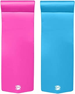 """product image for TRC Recreation Splash 70"""" Foam Lounger Pool Raft, Flamingo Pink with Blue Float"""