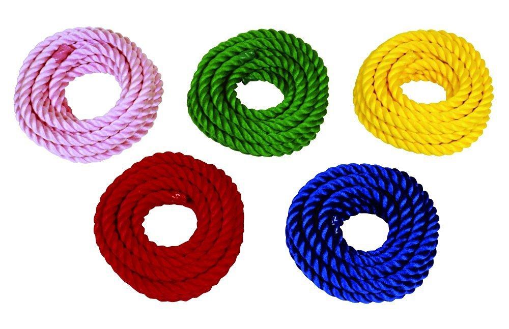 運動会用品 綱引き カラーライトロープ(化繊)直径30㎜×長さ20m *色をお選びください *幼児小学校 *握りやすく軽量強度を追求しました。保管も容易 B01M1H5R40 緑
