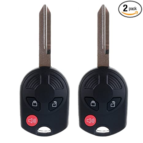 Best Replacement Keyless Entry Remote 4 BTN Uncut Ignition Key For Ford Car SUVs