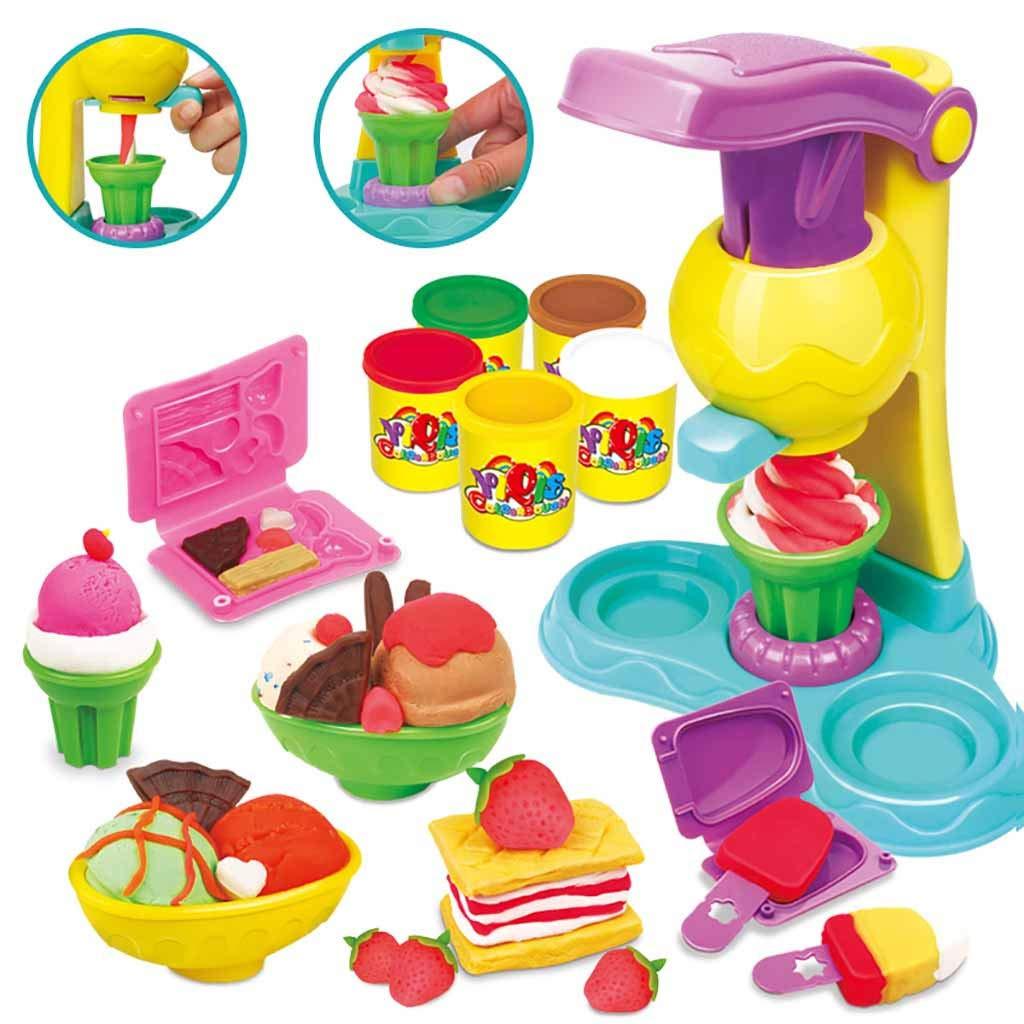 Alonea アイスクリームマシントイ ごっこ遊びキッチンセット アイスクリームマシン 遊び キッチン 幼児 女の子と子供のおもちゃ  Blue❤️ B07L9YS48P