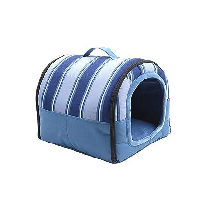 QIQIDEDIAN Casa de Perro Perro pequeño Pomerania Suministros para Mascotas Cama Casa Impermeable Invierno cálido (