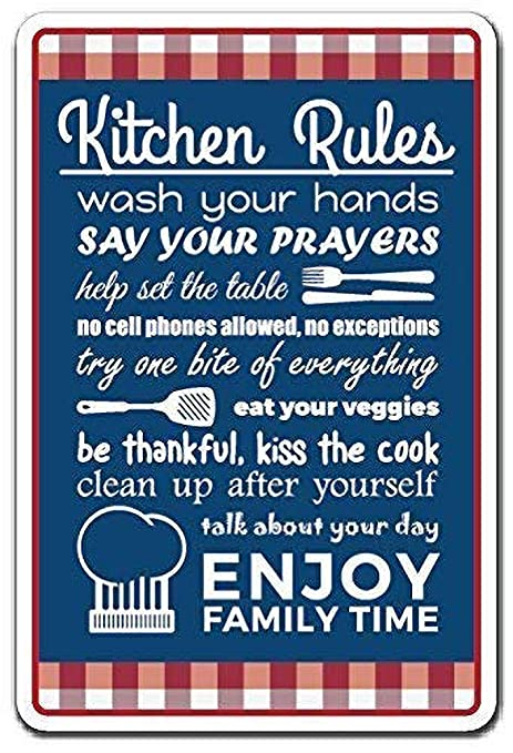 HiSign Rules Rules Family Food Clean Cook Retro Cartel de ...