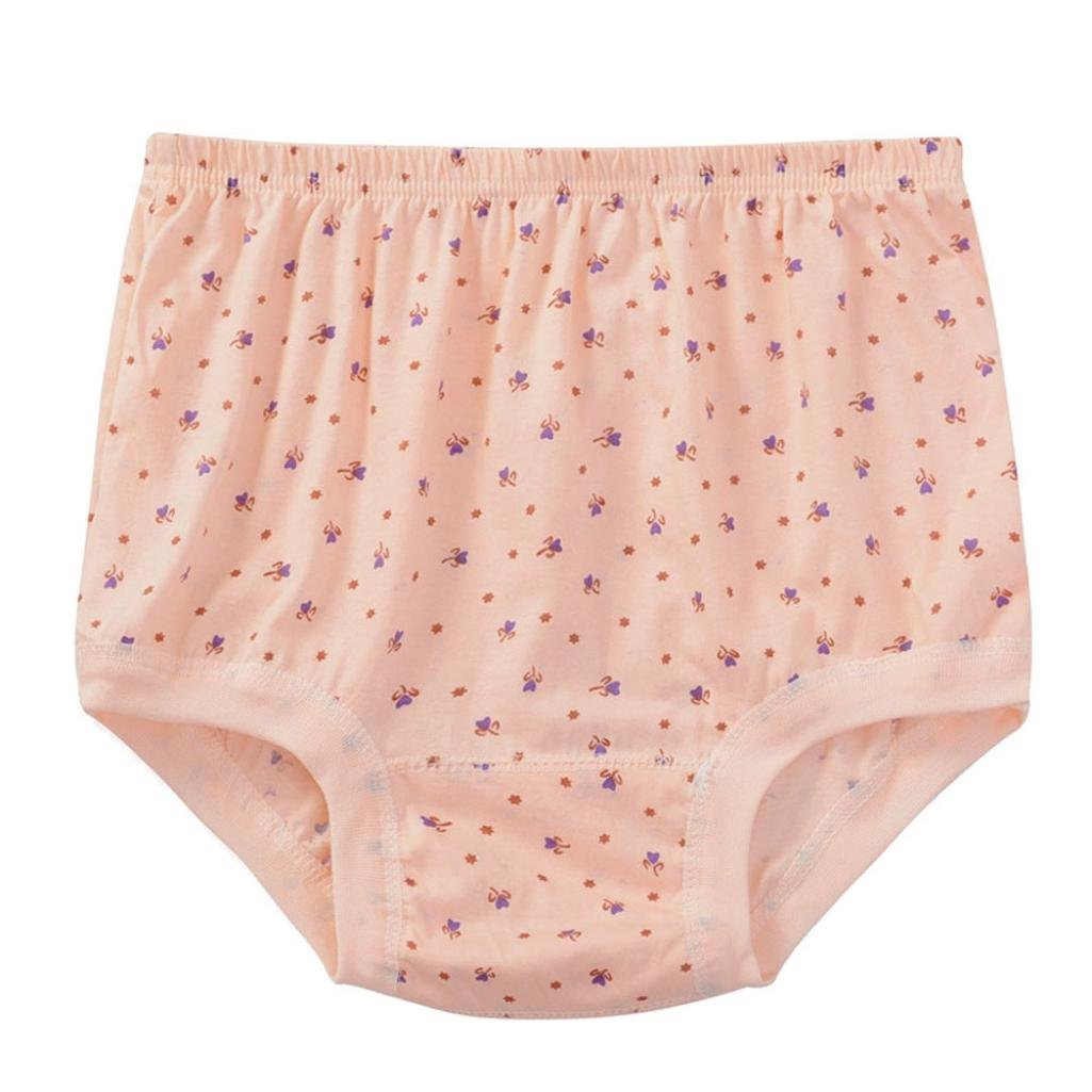 Koly Mujeres más tamaño impresión bragas Briefs Ropa interior de la ropa interior elástica de la cintura del alto-aumento Señora Forma de corazón ropa interior de algodón sin costura