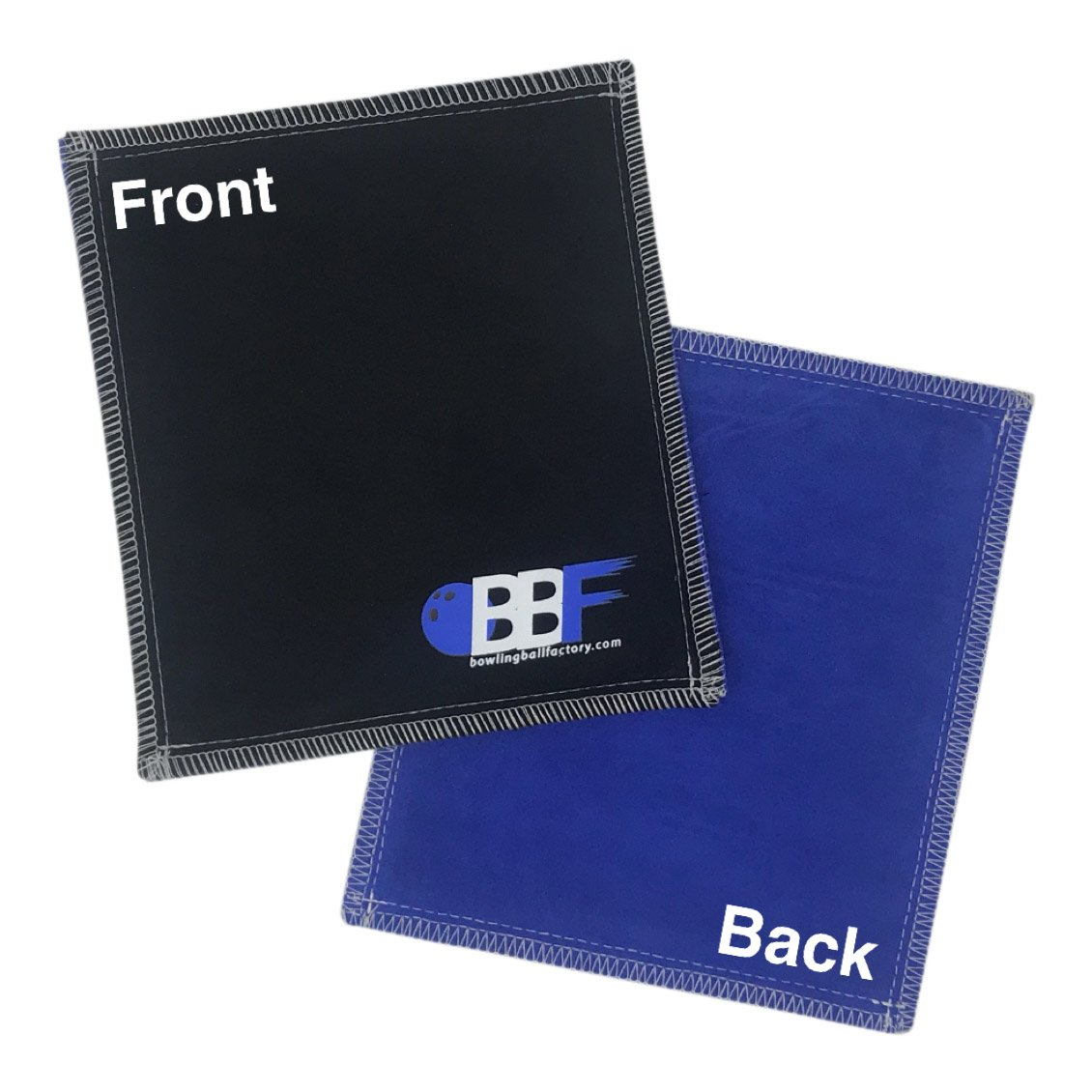 bowlingballfactory.com Royal/Black Ultra Tac Double Sided Black Leather Bowling Ball Shammy Pad Towel