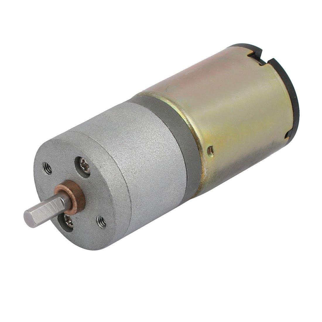 uxcell 25-372 Model DC24V 50RPM 9mmx4mm D Shaft DC Motor for RC Model Toy