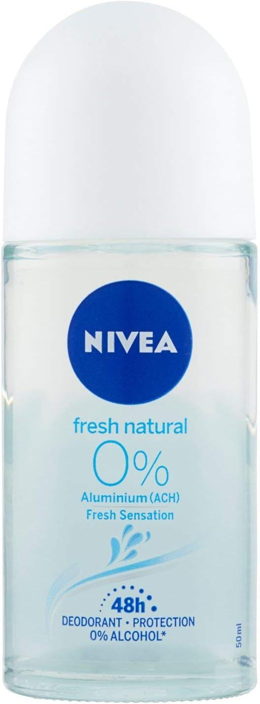 Nivea Roll On Alu Free Fresh Natural 0% Desodorante Sin Aluminio 50 ml