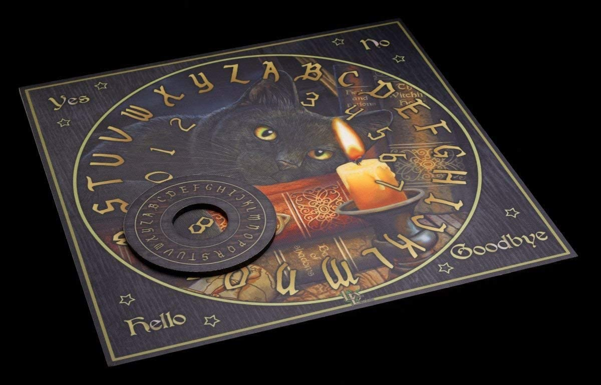 The Witching Hour by Lisa Parker Quijabrett mit Katze Witchboard Hexenbrett Wahrsagerbrett Quija Spirit Board