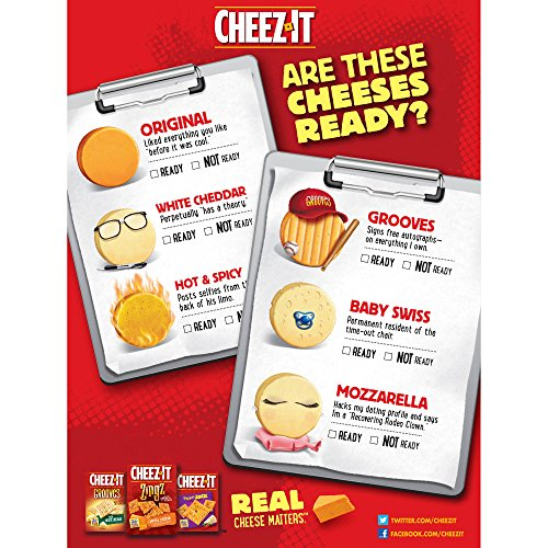 PACK OF 13 - Cheez-It Grooves Zesty Cheddar Ranch Crispy Cracker Chips, 9 oz by Cheez-It (Image #8)
