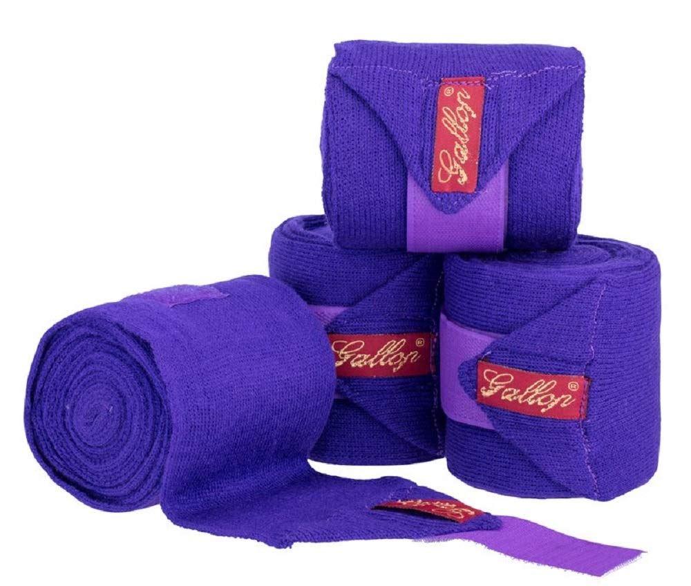 Purple Gallop Knitted Bandages 4-Piece Set in Presentation Bag