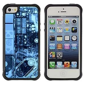 ZAKO CASES / Apple Iphone 5 / 5S / Electronics Pcb Hdd X Ray Pc / Robusto Prueba de choques Caso Billetera cubierta Shell Armor Funda Case Cover Slim Armor