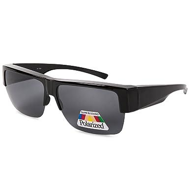 efdfb45c138 EYEGUARD Fit Over Polarized Lens Cover Sunglasses For Men - Wear Over  Prescription Glasses  Amazon.co.uk  Clothing