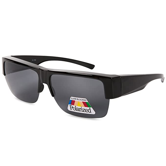 c029757bda Image Unavailable. Image not available for. Color  EYEGUARD Fit Over  Polarized Lens Cover Sunglasses For Men - Wear Over Prescription Glasses