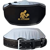 """Leather Weight Lifting Belt 4"""" Back Support Fitness Training Power Gym Strap Size XL"""