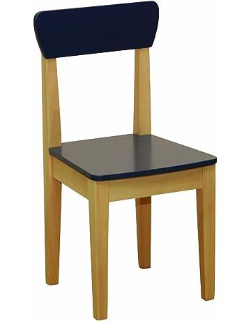 roba 50773 - Silla para niños, de madera maciza, tableros de fibra de densidad
