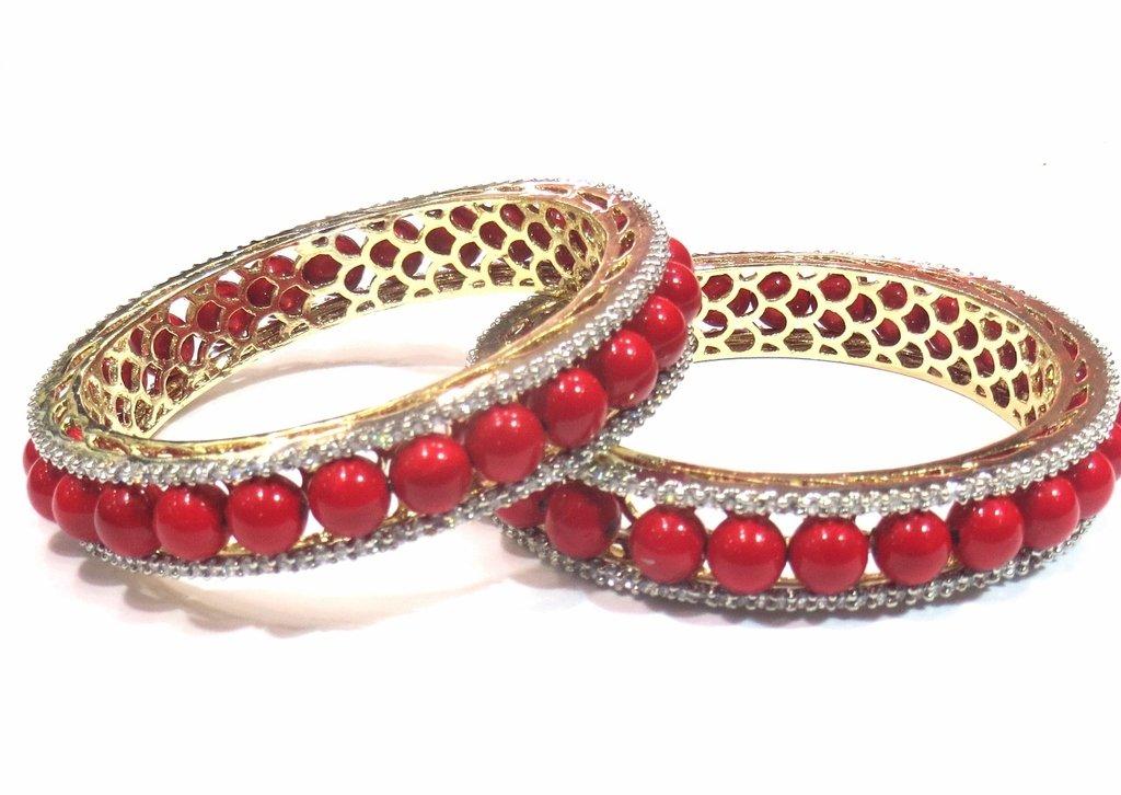Jewelshingar Jewellery Fine Micro Plated Bangles For Girls ( 33182-jb-interchangeable-2.4 ) by Jewelshingar (Image #2)