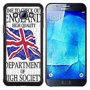 Dragon Case - FOR Samsung Galaxy A8 A8000 - time to check - Caja protectora de pl??stico duro de la cubierta Dise?¡Ào Slim Fit