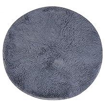 Gracefulvara Anti-Skid Shaggy Area Rug, Home Bedroom Carpet, Round Floor Mat