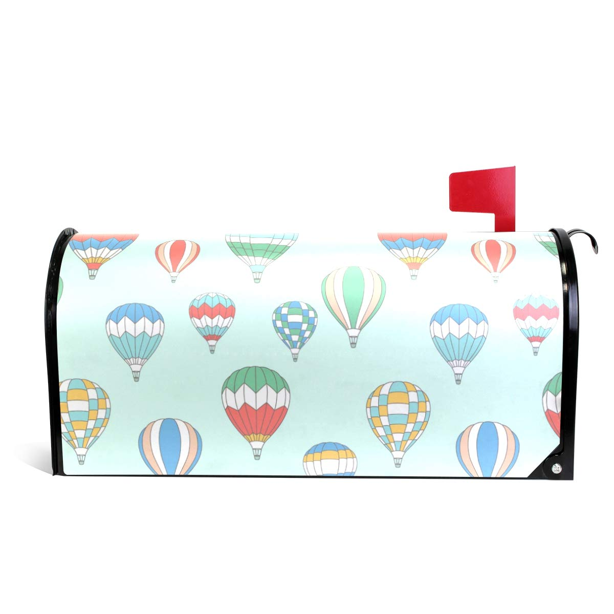 LORVIES Hot Air Ballons Pattern Magnetic Mailbox Cover Oversized 25.5 x 18 Inch