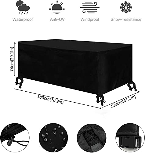 Osarke Outdoor Garden Furniture Covers Patio Furniture Covers Waterproof Cover 70.86×47.24×29.3in