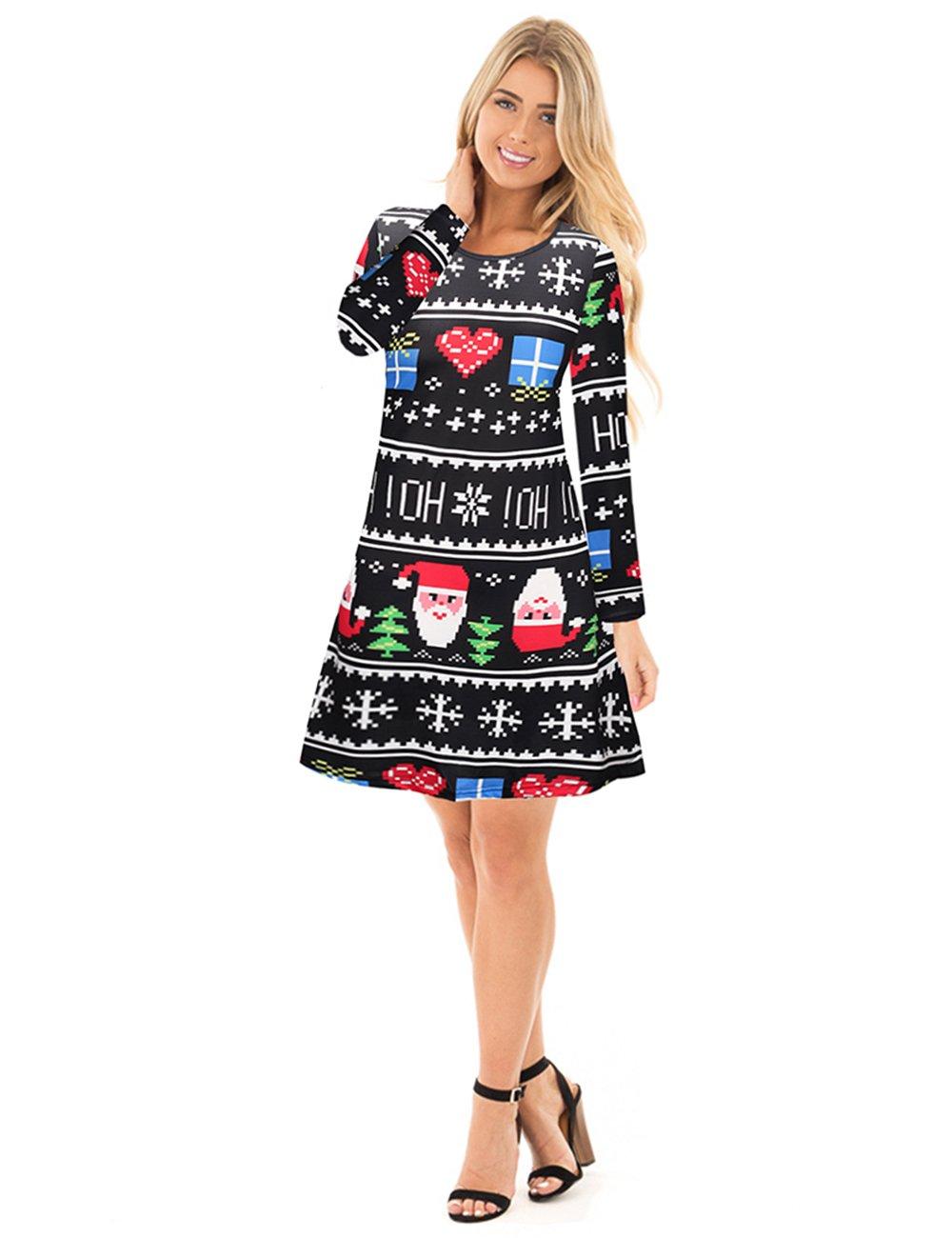 Hässliches Weihnachtskleid für Frauen - Weihnachtsmann und ...