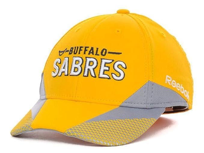 online retailer 11a4b 12f48 ... shop reebok buffalo sabres 13 nhl practice yellow flexfit hat cap small  medium f5280 1a422
