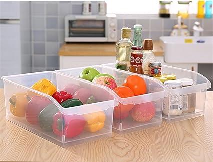 Hever plástico Nevera contenedores para casa cocina y despensa armario organizador de almacenamiento de bandejas de