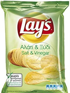 product image for Lay's Potato Chips From Greece with Salt and Vinegar - 10 Packs X 72g (2.5 Ounces Per Pack)