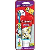 Escova de Dente + Creme Dental Infantil Colgate Smiles 2 unid Escova de dente + Creme Dental Minions 100ml com Preço…