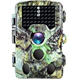 BanffCliff Trail Camera 16MP 1080P Hunting Cam, 46PCs IR LEDs 65FT Night Vision, 120° Wide Angle HD 0.2S Trigger Time 2.4 LCD Screen Waterproof Wildlife Outdoor Security Monitor