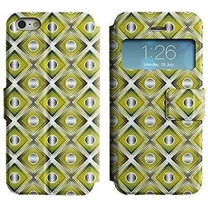 LEOCASE círculos lindos Funda Carcasa Cuero Tapa Case Para Apple iPhone 5 / 5S No.1002676