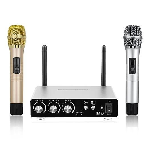 9 opinioni per Excelvan K28 Doppie Professionali Microfoni Wireless Ricevitore Box Vari