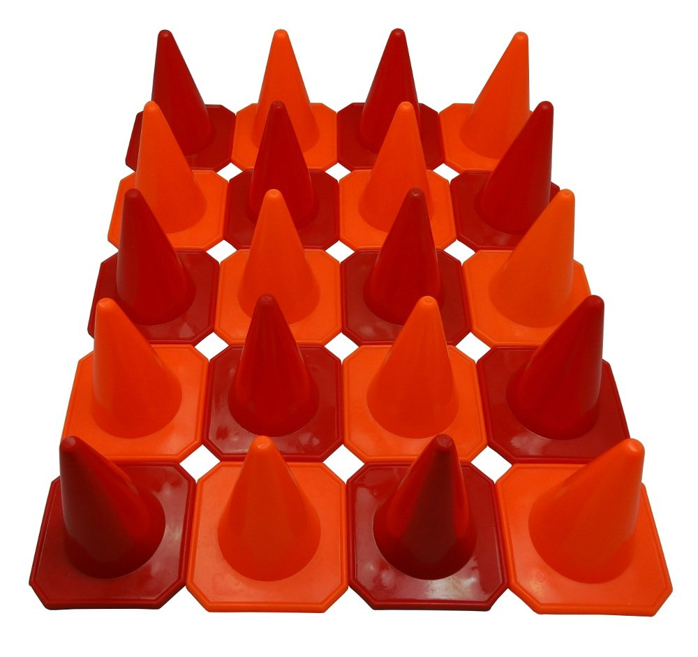 Bluedot Trading 4'' RC Racing Agility Cones, Orange & Red - Set of 20