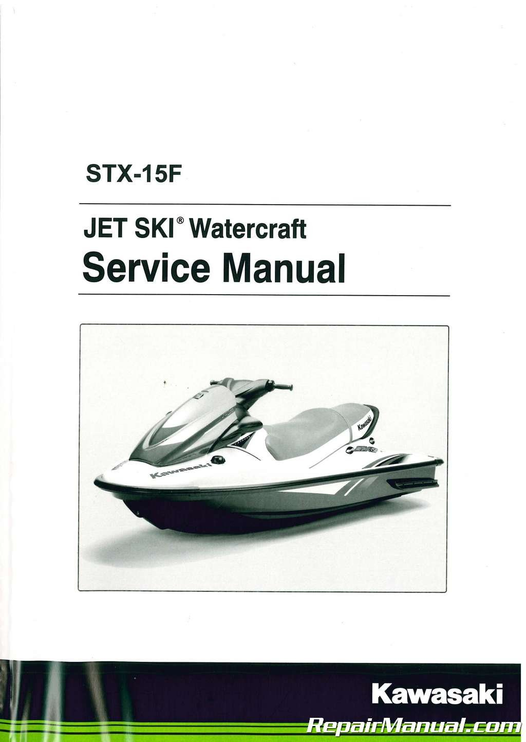 99924-1325-09 2004-2012 Kawasaki JT1500A Jet Ski STX-15F Factory Service  Manual: Manufacturer: Amazon.com: Books