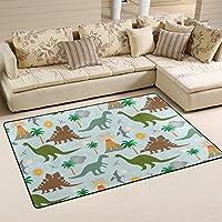 LORVIES Dinosaur Scene Area Rug Carpet Non-Slip Floor Mat Doormats for Living Room Bedroom 31 x 20 inches