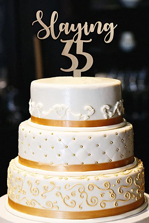 Amazon Slaying 35 Cake Topper 35th Birthday Cake Topper