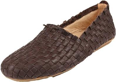 Santimon Men's Woven Leather Slip-On