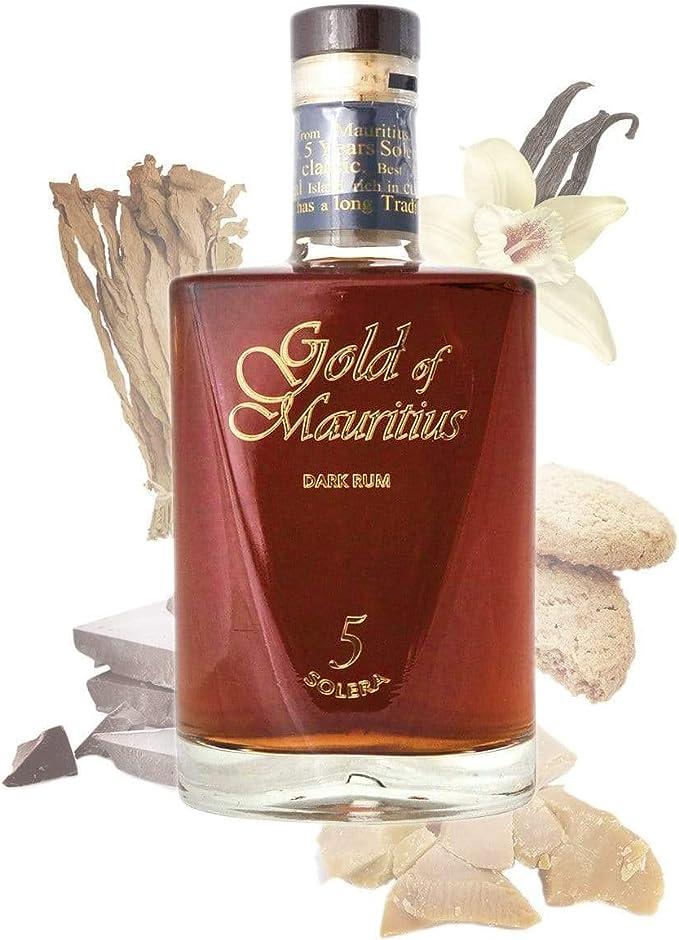 Gold of Mauritius Dark Rum 5 Solera Rum - 1 x 700 ml