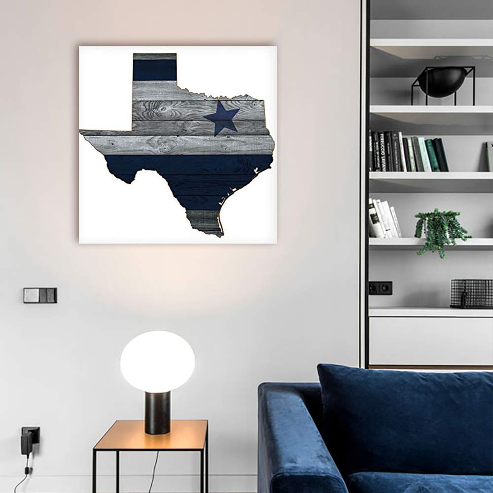 Canvas Art Wall Decor Dallas Cowboy Star Wood Background