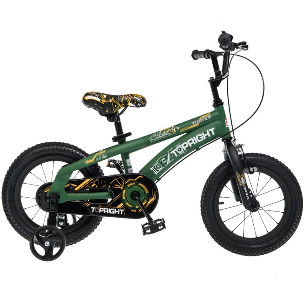 YANGFEI 子ども用自転車 2-9歳の子供のためのサイドストランドとアクセサリーと安全スポーツ子供バイク自転車|女の子/男の子用12インチ、14インチ、18インチ| 212歳 B07DWRX5WP 12 inch|緑 緑 12 inch