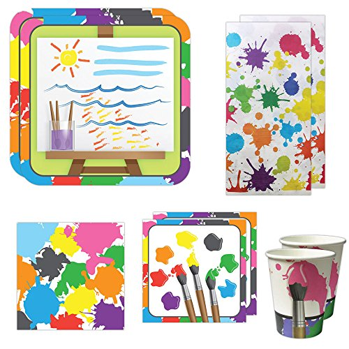 Art Party Deluxe Party Packs (70 Pieces for 16 Guests!), Painting Birthday Party, Art Birthday Decorations, (Paper Wristbands Party City)